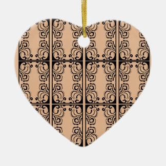 Black lace vanilla / black, beige ceramic ornament