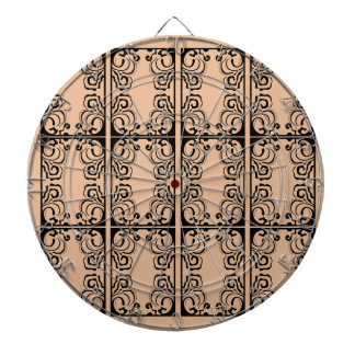 Black lace vanilla / black, beige dartboard
