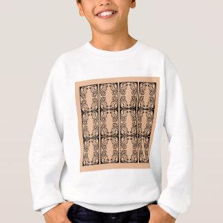 Black lace vanilla / black, beige sweatshirt