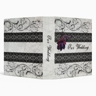 Black Lace Wedding 3 Ring Binder