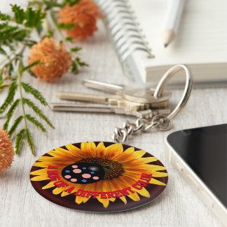 Black Ladybug Keychain