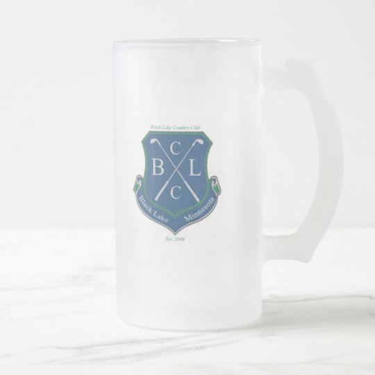 Black Lake Country Club (left handed) Frosted Glass Beer Mug