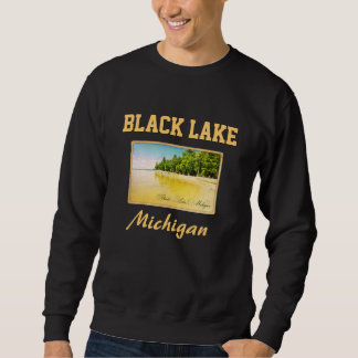 Black Lake Michigan Postcard Sweatshirt