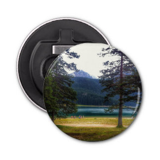 Black Lake. Žabljak. Montenegro. Button Bottle Opener