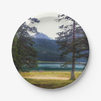Black Lake. Žabljak. Montenegro. Paper Plate