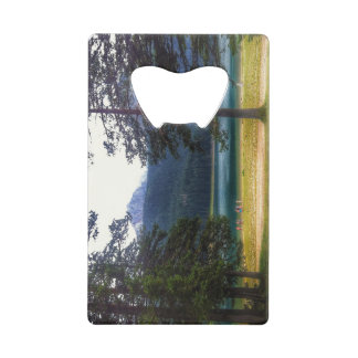 Black Lake. Žabljak. Montenegro. Wallet Bottle Opener