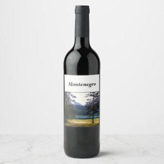 Black Lake. Žabljak. Montenegro. Wine Label