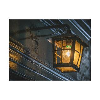 Black lantern canvas print