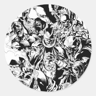 Black Lantern Corps - Black and White Round Sticker