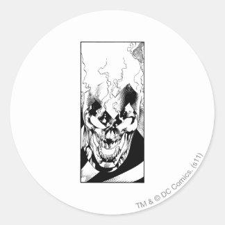 Black Lantern Round Sticker