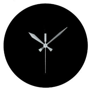 Black Large Clock