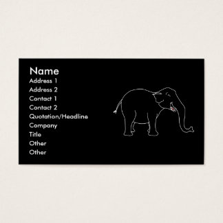 Black Laughing Elephant. Business Card