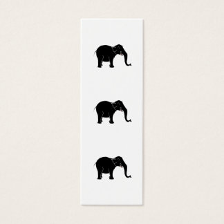 Black Laughing Elephant. Mini Business Card