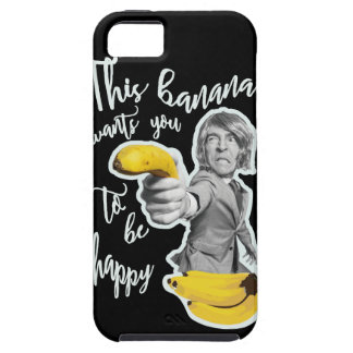 Black layer this banana wants that you are happy iPhone 5 cover