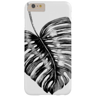 Black leaf monstera tropical foliage barely there iPhone 6 plus case