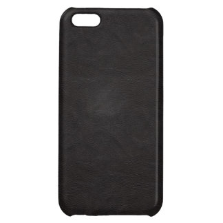 Black Leather 2 iPhone 5C Cases