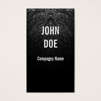 Black leather finely decorated business card