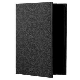 Black Leather Geometric Embossed Design Powis iPad Air 2 Case