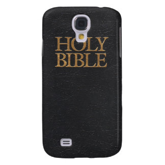 Black Leather Holy Bible Cover