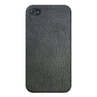 Black Leather iPhone4 Case Cover iphone 4