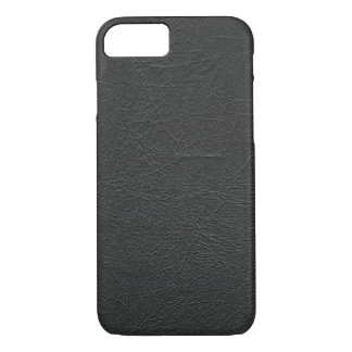 Black Leather iPhone 8/7 Case