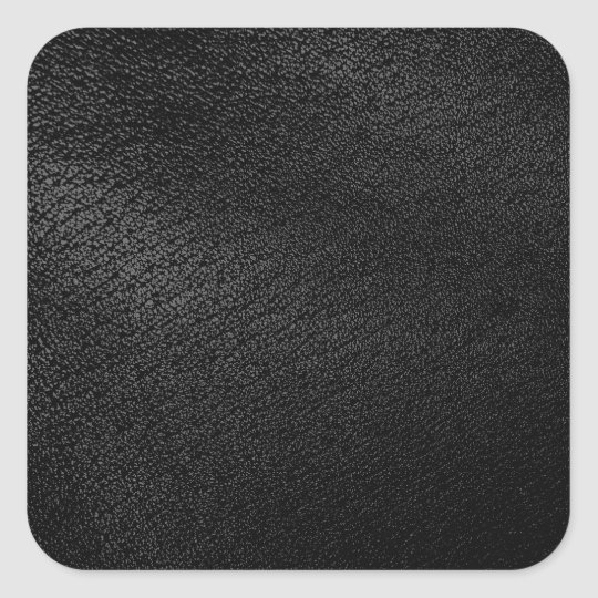 Black Leather Look Square Sticker