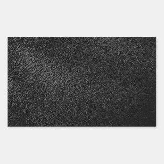 Black Leather Look Rectangular Sticker
