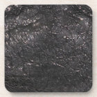 Black Leather-look Textured-effect Cork Coasters