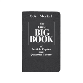 Black Leather Particle Physics Book Pocket Journal