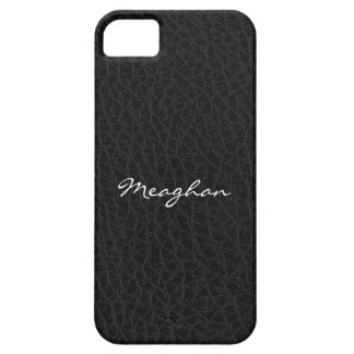 Black Leather Texture iPhone 5 Cover