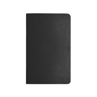 Black Leather Texture Notebook Small