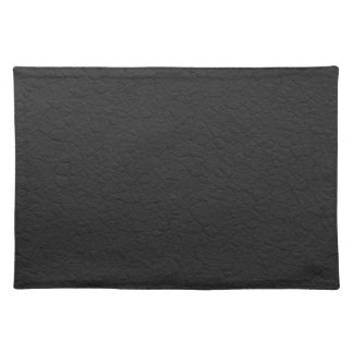 Black Leather Textured Placemat