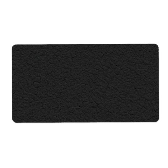 Black Leather Textured Shipping Label
