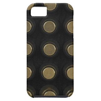 Black leather with brass detail case for the iPhone 5