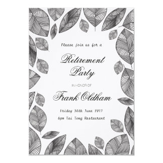 Black Leaves, Modern any occasion Retirement Card