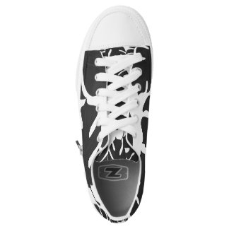 Black Leaves Tropical Palm Summer Tropics Chic Low-Top Sneakers