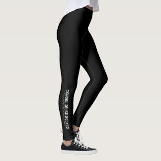 Black Leggings with Logo on Lower Leg