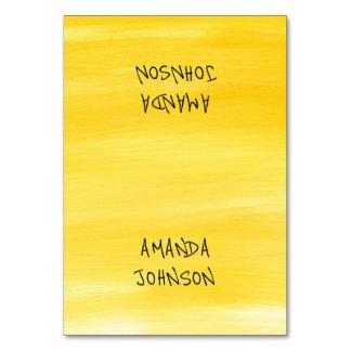 Black Lemon Aquarelle Painted Personalized Name Table Cards