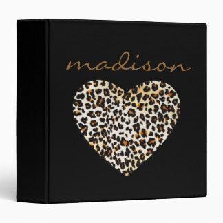 Black Leopard Heart Binder