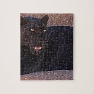 Black Leopard Jigsaw Puzzle