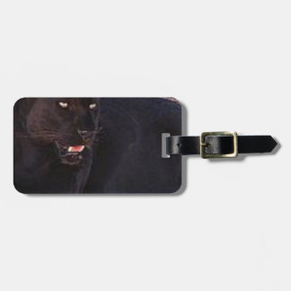 Black Leopard Luggage Tag