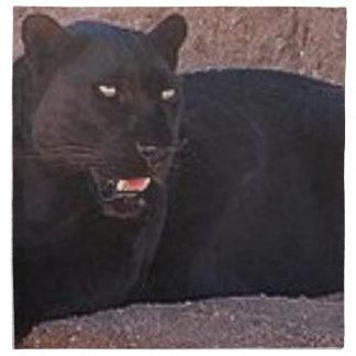 Black Leopard Napkin