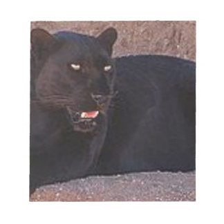 Black Leopard Notepad