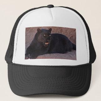 Black Leopard Trucker Hat
