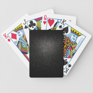 black lether imitation bicycle playing cards