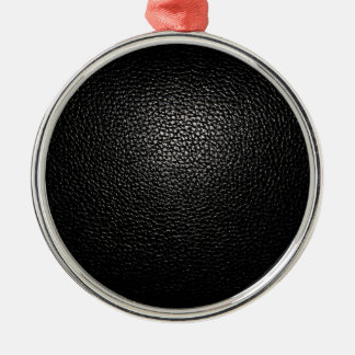 black lether imitation metal ornament