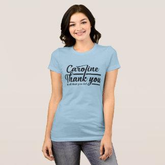 Black Letter Thank You Caroline T-Shirt