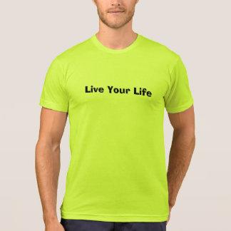 Black Lettering Slogan T-Shirt (Live Your Life)