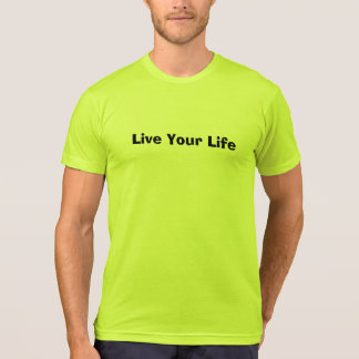 Black Lettering Slogan T-Shirt (Live Your Life)