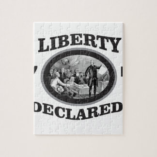 black liberty declared jigsaw puzzle